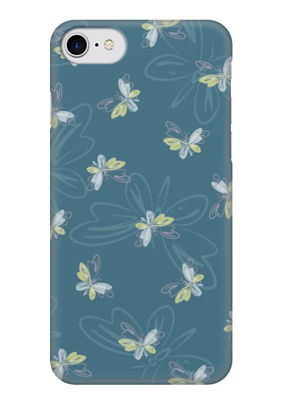 Чехол для iPhone 7 глянцевый Printio Бабочки чехол для карточек пионы на синем фоне дк2017 113