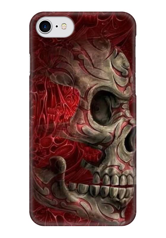 Чехол для iPhone 7 глянцевый Printio Skull art чехол для iphone 7 глянцевый printio horror art