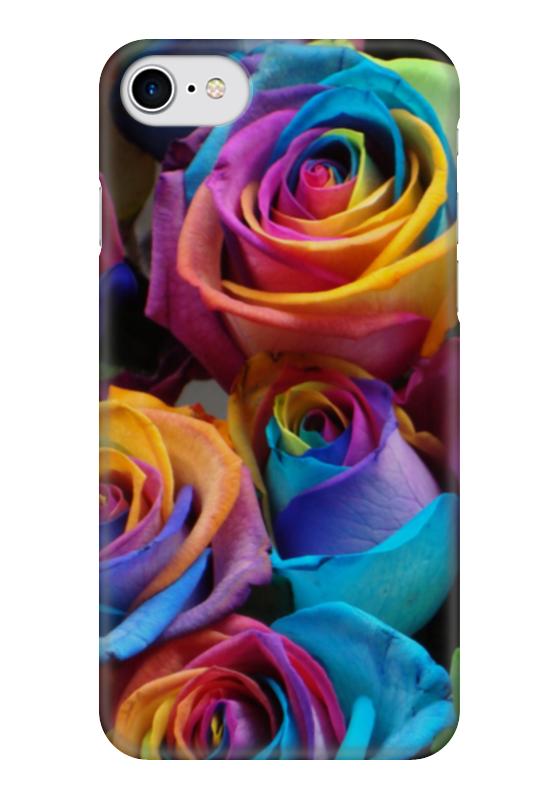 Чехол для iPhone 7 глянцевый Printio Цветы розы чехол для iphone 7 глянцевый printio horror art