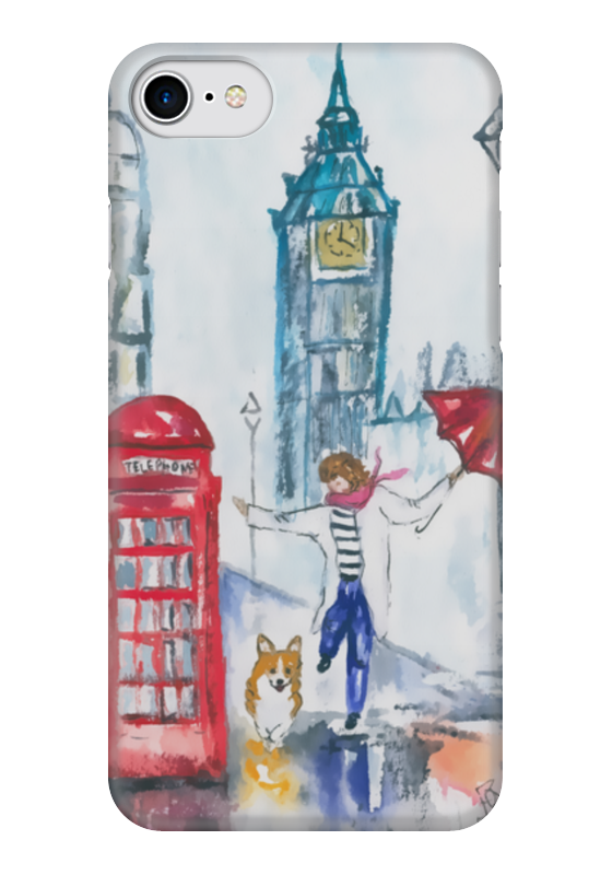 Чехол для iPhone 7 глянцевый Printio Прогулки по городу чехол для iphone 7 глянцевый printio прогулки по городу