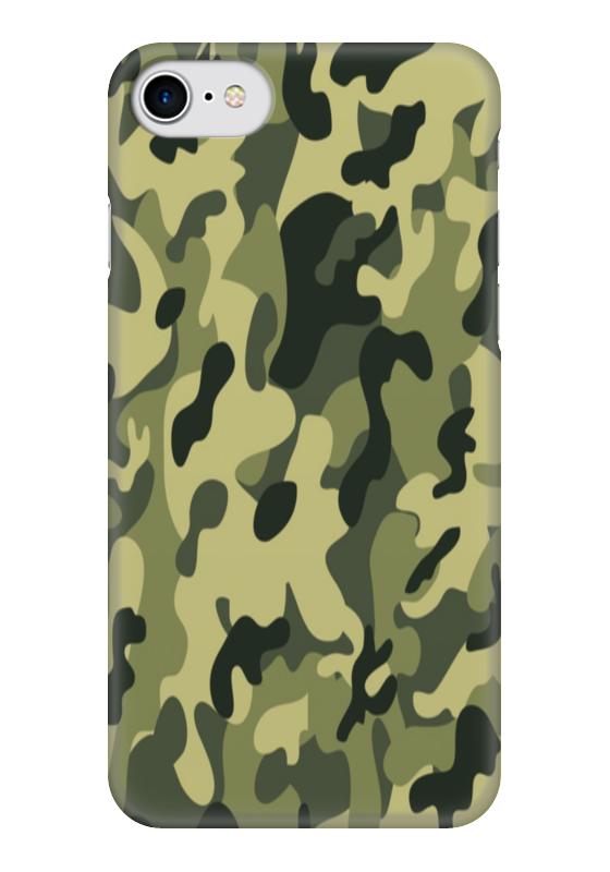 Чехол для iPhone 7 глянцевый Printio Камуфляж чехол для iphone 5 printio камуфляжный чехол