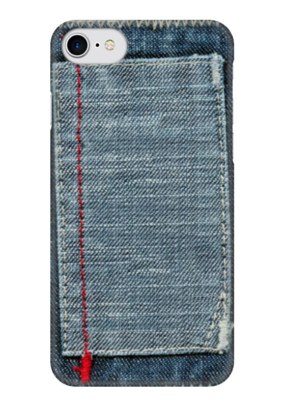 Чехол для iPhone 7 глянцевый Printio Джинса