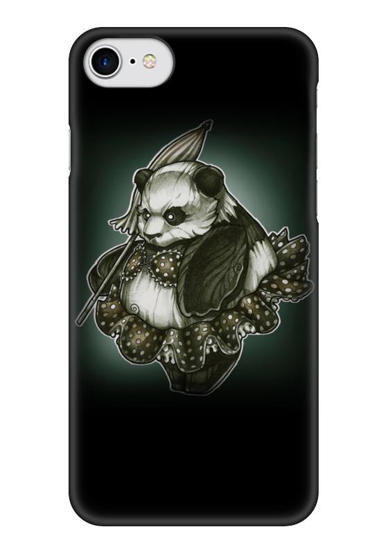 Чехол для iPhone 7 глянцевый Printio Panda girl