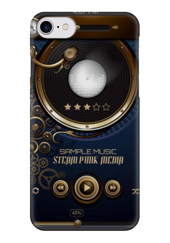 Чехол для iPhone 7 глянцевый Printio Стимпанк-музыка