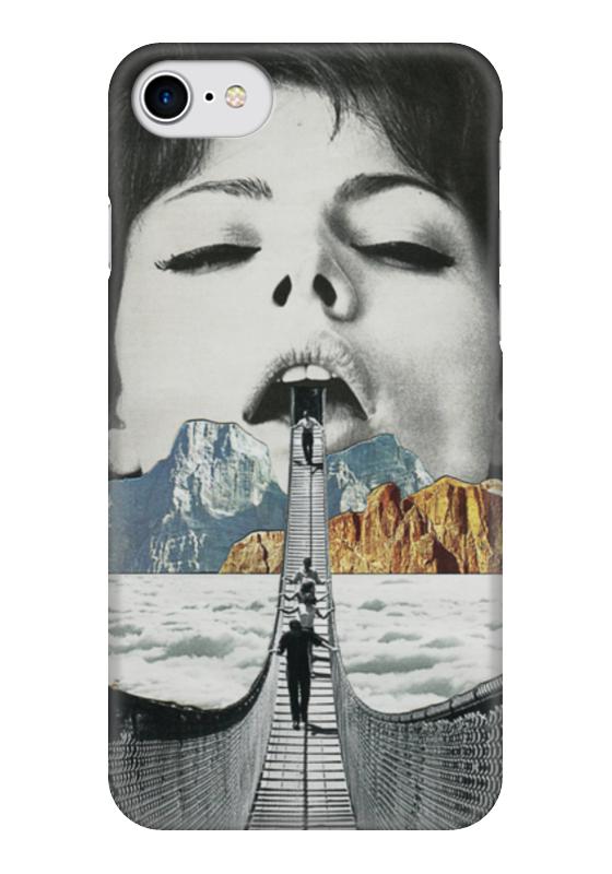 Чехол для iPhone 7 глянцевый Printio Шатающийся мост мост дружбы дуслык купере