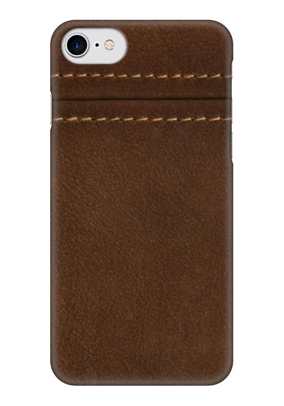 Чехол для iPhone 7 глянцевый Printio Кожаный дизайн кожаный чехол флип iphone 7 bouletta