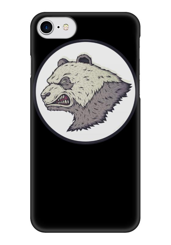 купить Чехол для iPhone 7 глянцевый Printio Angry panda / злая панда по цене 1000 рублей