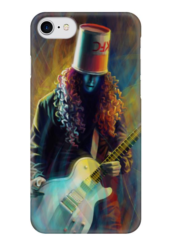 Чехол для iPhone 7 глянцевый Printio Buckethead - бакетхед young buckethead