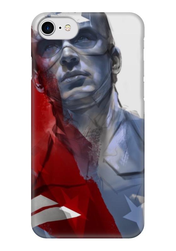 Чехол для iPhone 7 глянцевый Printio Капитан америка чехол для iphone 7 глянцевый printio альтрон мстители