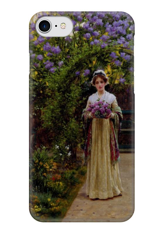 Чехол для iPhone 7 глянцевый Printio Сирень (картина эдмунда лейтона) картины сирень картина ароматный букет