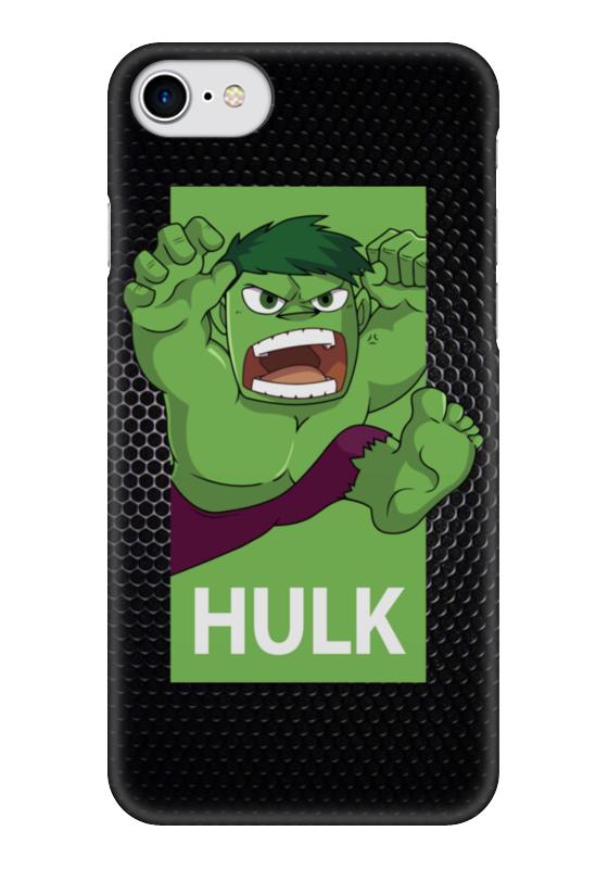 Чехол для iPhone 7 глянцевый Printio Халк (hulk) чехол для iphone 7 глянцевый printio lp chester benningtonkeys to the kingoom
