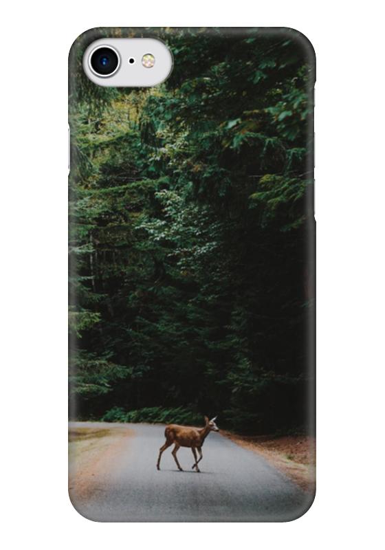 Чехол для iPhone 7 глянцевый Printio Лесной олень украшение kaemingk лесной олень black silver 515727