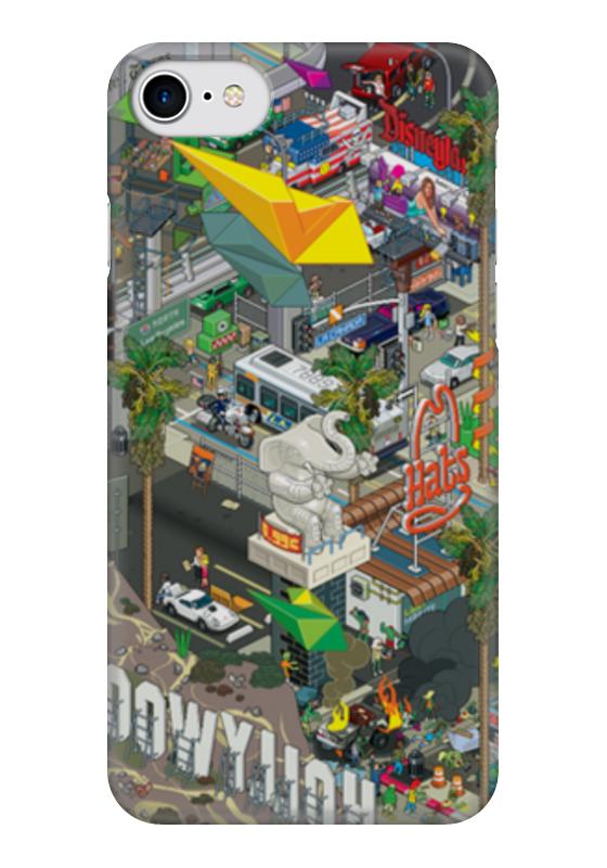 Чехол для iPhone 7 глянцевый Printio Лос-анджелес гербер кэтрин лос анджелес