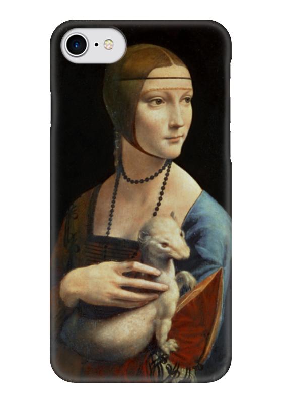 Чехол для iPhone 7 глянцевый Printio Дама с горностаем (леонардо да винчи) вешалка леонардо