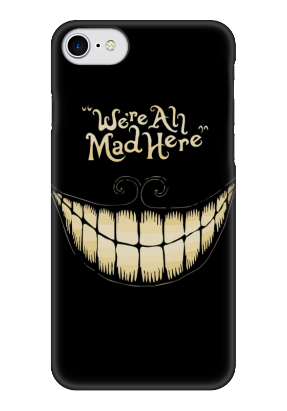 Чехол для iPhone 7 глянцевый Printio We are all mad here things are disappearing here – poems