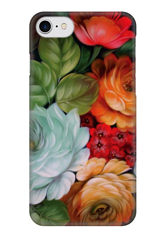 Чехол для iPhone 7 глянцевый Printio Colorfull flowers коврик для мыши pcpet colorfull nature rgm02 голубой с рисунком 648600