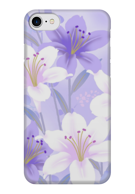 Чехол для iPhone 7 глянцевый Printio Цветы. чехол для iphone 7 глянцевый printio цветы на голубом