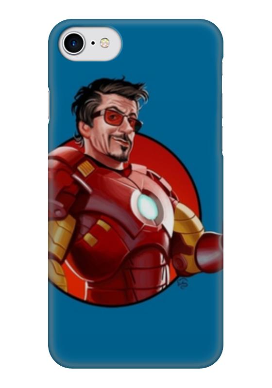 Чехол для iPhone 7 глянцевый Printio Iron man чехол для iphone 7 глянцевый printio мечты витторио коркос