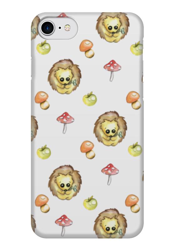 Чехол для iPhone 7 глянцевый Printio Ежики бусы из янтаря солнечные ежики