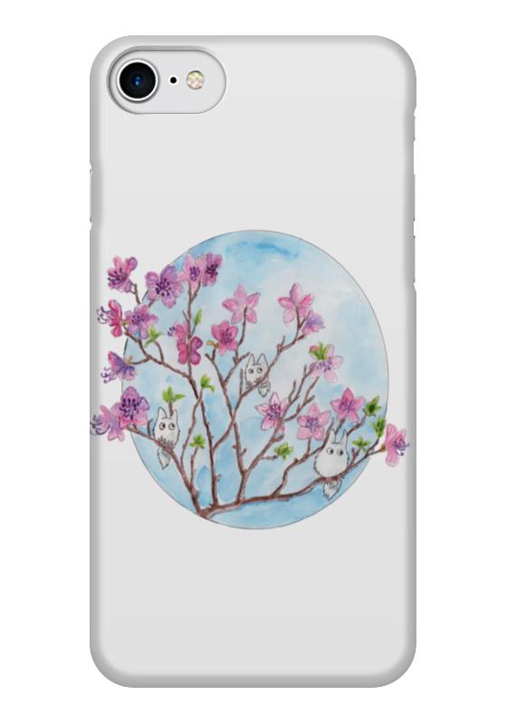 Чехол для iPhone 7 глянцевый Printio Цветущая ветка багульника homereligion ветка мимозы