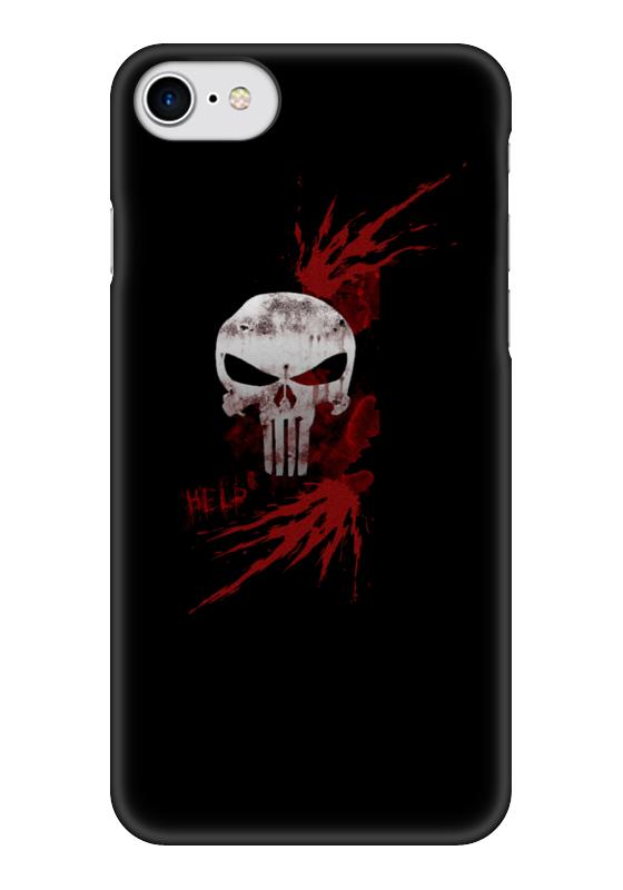 Чехол для iPhone 7 глянцевый Printio Каратель. punisher чехол для iphone 7 plus глянцевый printio punisher каратель