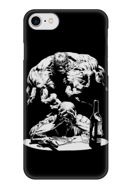 Чехол для iPhone 7 глянцевый Printio Halk art чехол для iphone 7 глянцевый printio horror art