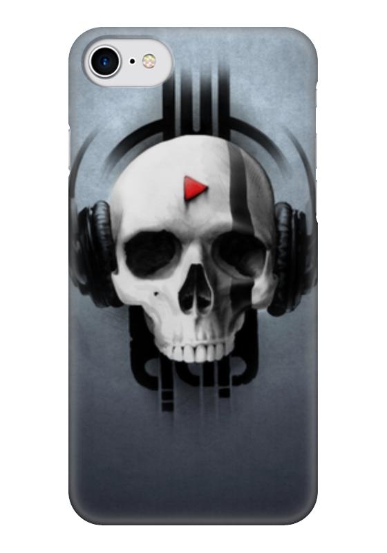 Чехол для iPhone 7 глянцевый Printio Череп чехол для iphone 5 глянцевый с полной запечаткой printio череп художник