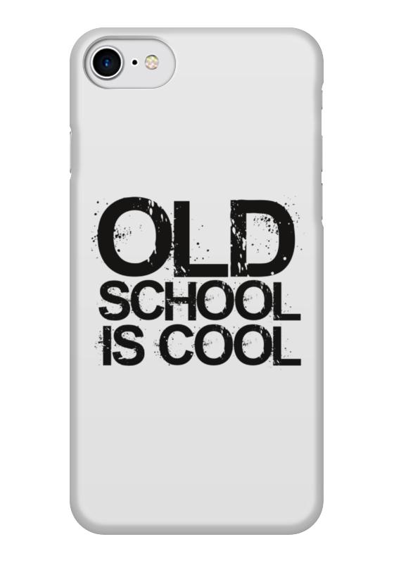 Чехол для iPhone 7 глянцевый Printio старая школа это круто