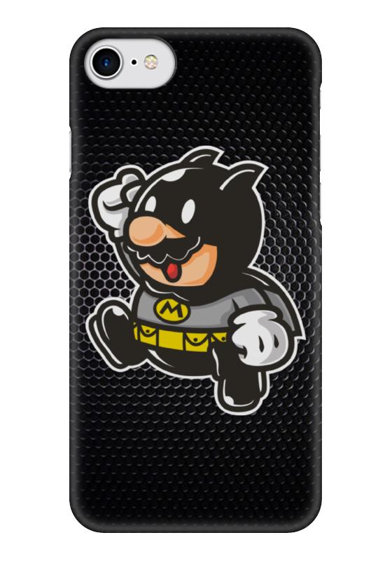 Чехол для iPhone 7 глянцевый Printio Mario x batman лонгслив printio ice king x batman