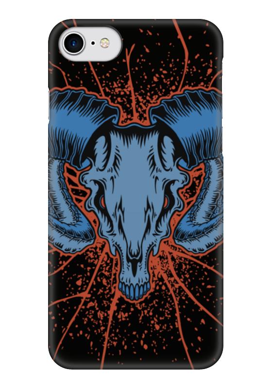 Чехол для iPhone 7 глянцевый Printio Goat skull чехол для iphone 7 глянцевый printio альтрон мстители