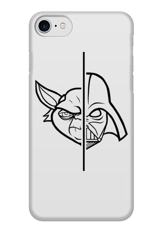 Чехол для iPhone 7 глянцевый Printio Star wars yoda darth vader splitface светильник светодиодный 3dlightfx star wars yoda face 3d