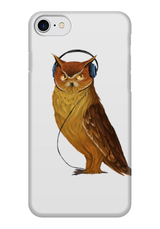 Чехол для iPhone 7 глянцевый Printio Сова в наушниках чехол для iphone 7 глянцевый printio отряд самоубийц