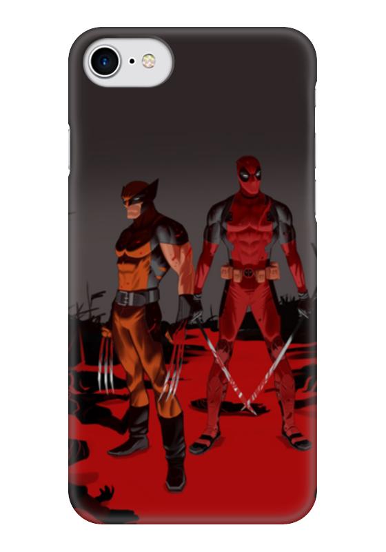 Чехол для iPhone 7 глянцевый Printio Deadpool vs wolverine чехол для iphone 7 plus глянцевый printio deadpool