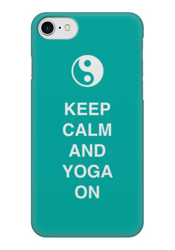 Чехол для iPhone 7 глянцевый Printio Keep calm and yoga on тетрадь на пружине printio keep calm and yoga on