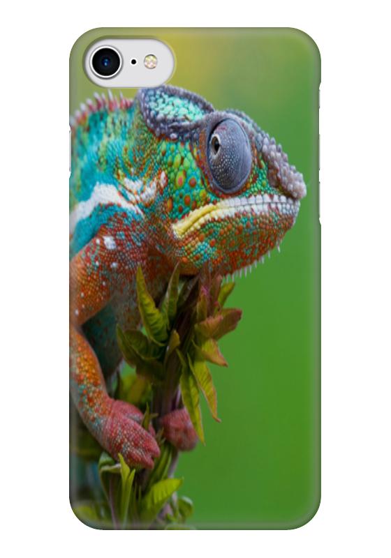 Чехол для iPhone 7 глянцевый Printio Хамелеон чехол для карточек хамелеон с узорами дк2017 111