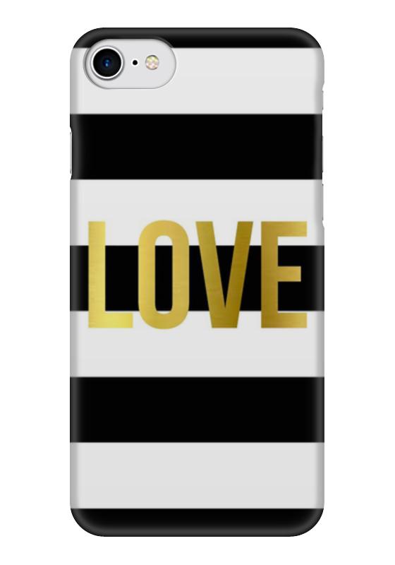Чехол для iPhone 7 глянцевый Printio Love чехлы для телефонов with love moscow силиконовый дизайнерский чехол для meizu m3s перья