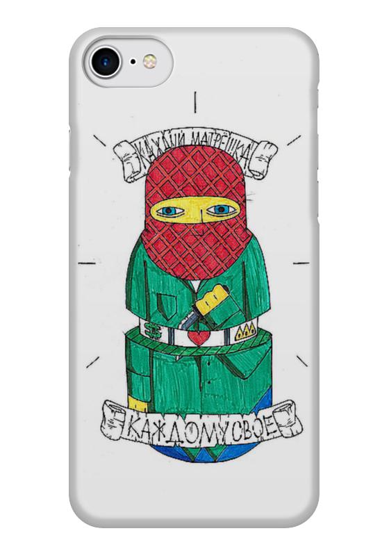 Чехол для iPhone 7 глянцевый Printio Russian doll russian phrase book