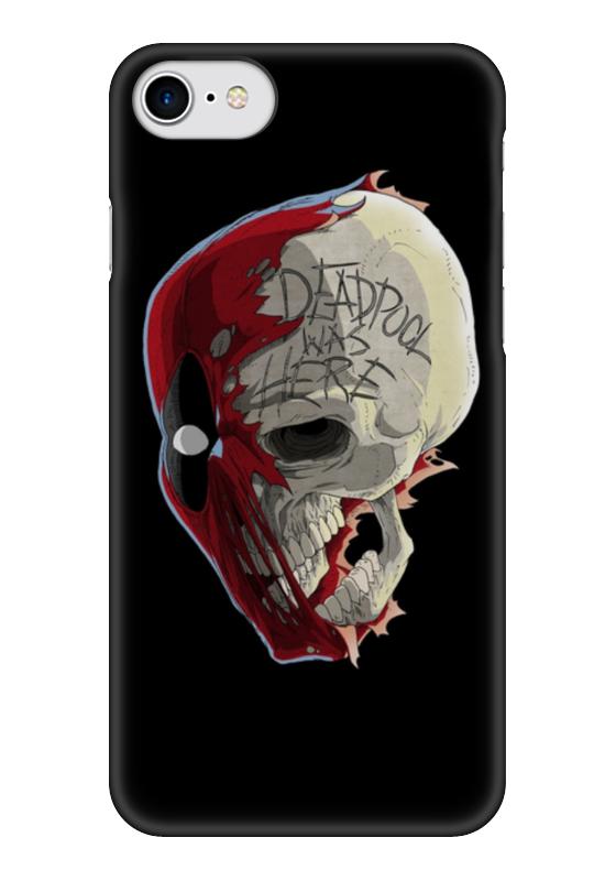 Чехол для iPhone 7 глянцевый Printio Deadpool чехол для iphone 7 plus глянцевый printio deadpool
