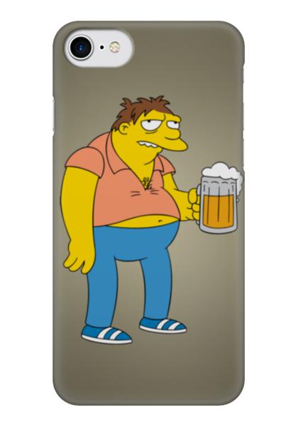 """Чехол для iPhone 7 глянцевый """"Барни с пивом (Симпсоны)"""" - симпсоны, the simpsons, барни гамбл"""