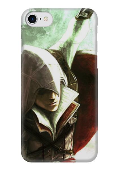 """Чехол для iPhone 7 глянцевый """"Assassin's creed"""" - фильм, компьютерные игры, assassin's creed, кредо убийцы, главный герой"""