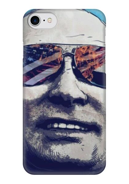 """Чехол для iPhone 7 глянцевый """"Путин"""" - крутой, путин, сша"""