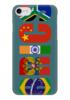 "Чехол для iPhone 7 глянцевый ""BRICS - БРИКС"" - россия, китай, индия, бразилия, юар"