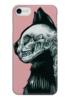 """Чехол для iPhone 7 глянцевый """"Череп кошки"""" - череп, кошка, skull, cat, арт"""