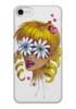 """Чехол для iPhone 7 глянцевый """"Без ума от цветов"""" - любовь, девушка, цветы, сердца, блондинка"""