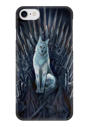 "Чехол для iPhone 7 глянцевый ""Игра Престолов"" - фэнтези, wolf, игра престолов, game of thrones, железный трон"