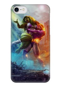 """Чехол для iPhone 7 глянцевый """"MARVEL HEROES"""" - супергерои, heroes, марвел"""