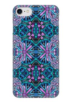 "Чехол для iPhone 7 глянцевый ""Drop Tv Re-Drawed Scope 1 invert"" - узор, ретро, классика, этно, симметрия"