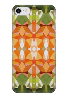 """Чехол для iPhone 7 глянцевый """"Морковный фреш"""" - белый, оранжевый, зеленый"""