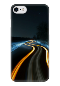 "Чехол для iPhone 7 глянцевый ""Дорога"" - дорога, свет, sreet, road"