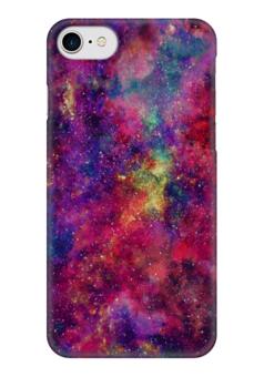 """Чехол для iPhone 7 глянцевый """"Космический"""" - космос, космический дизайн, звезды, арт, space design"""
